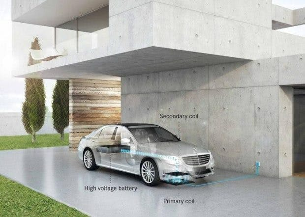 Plugin-Hybrid ohne Plugin: Mercedes-Benz soll 2017 auch drahtloses Laden beim S500 möglich machen. (Grafik: Qualcomm)