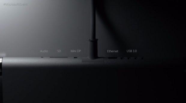 Microsoft Surface Studio: die Anschlüsse. (Bild: Microsoft)