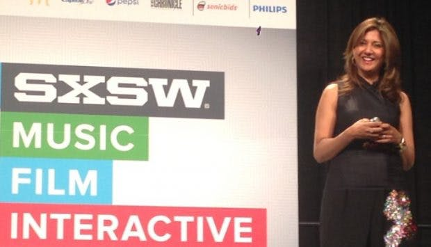 Scharfe Kritik am Silicon Valley: Ex-Apple-Managerin Nilofer Merchant auf der SXSW. (Bild: Linkedin/Merchant)