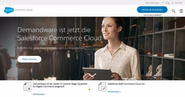 Aus Demandware wird die Salesforce-Commerce-Cloud. (Screenshot: Salesforce)