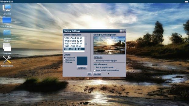 Visopsys will die guten Eigenschaften aller Betriebssysteme vereinen. (Screenshot: visopsys.org)