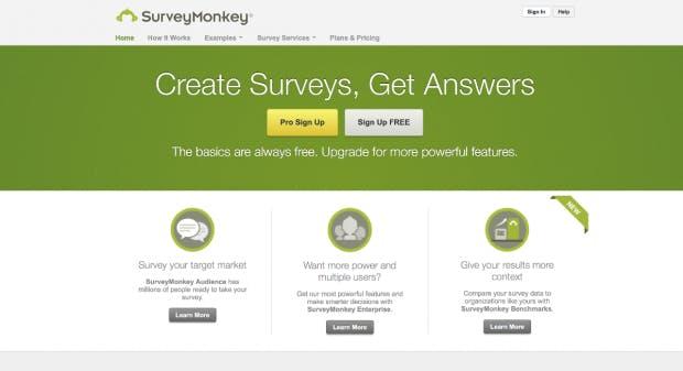 Wie der Startup-Name in der Öffentlichkeit ankommt, lässt sich mit Surveymonkey herausfinden. (Screenshot: t3n)