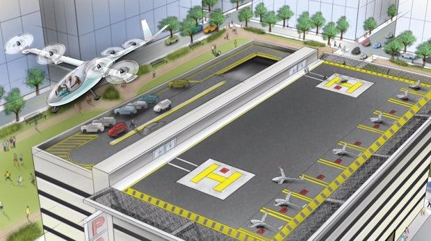 Uber den Wolken: Ride-Sharing-Dienst will bis 2021 Flugtaxis anbieten