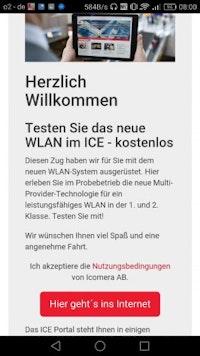 WLAN im ICE – lange haben wir darauf gewartet. (Screenshot: t3n)