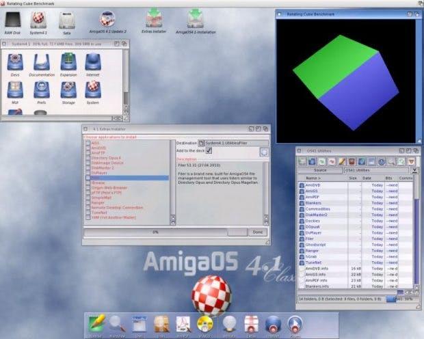 Amiga OS 4.1 FE mit Workbench-Oberfläche. (Screenshot: amigaos.net)