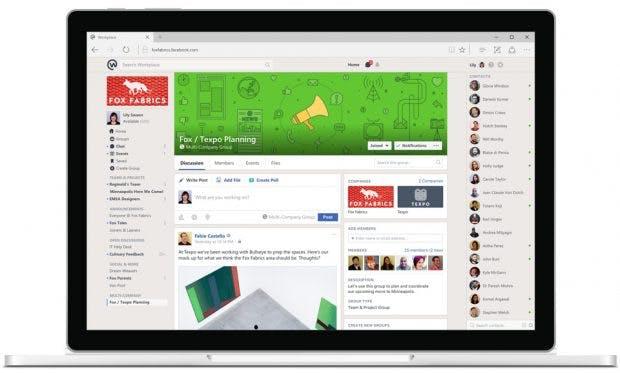 Wer Facebook kennt, dürfte sich auch in Workplace schnell zurecht finden. (Grafik: Facebook)