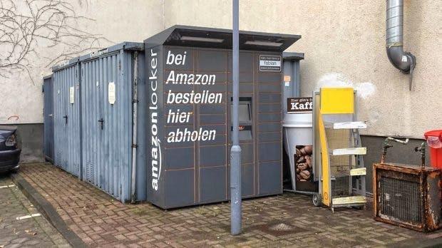 Die Standorte der Amazon Locker sind manchmal etwas schäbig. (Foto: Peer Schrader, Supermarkt Blog)