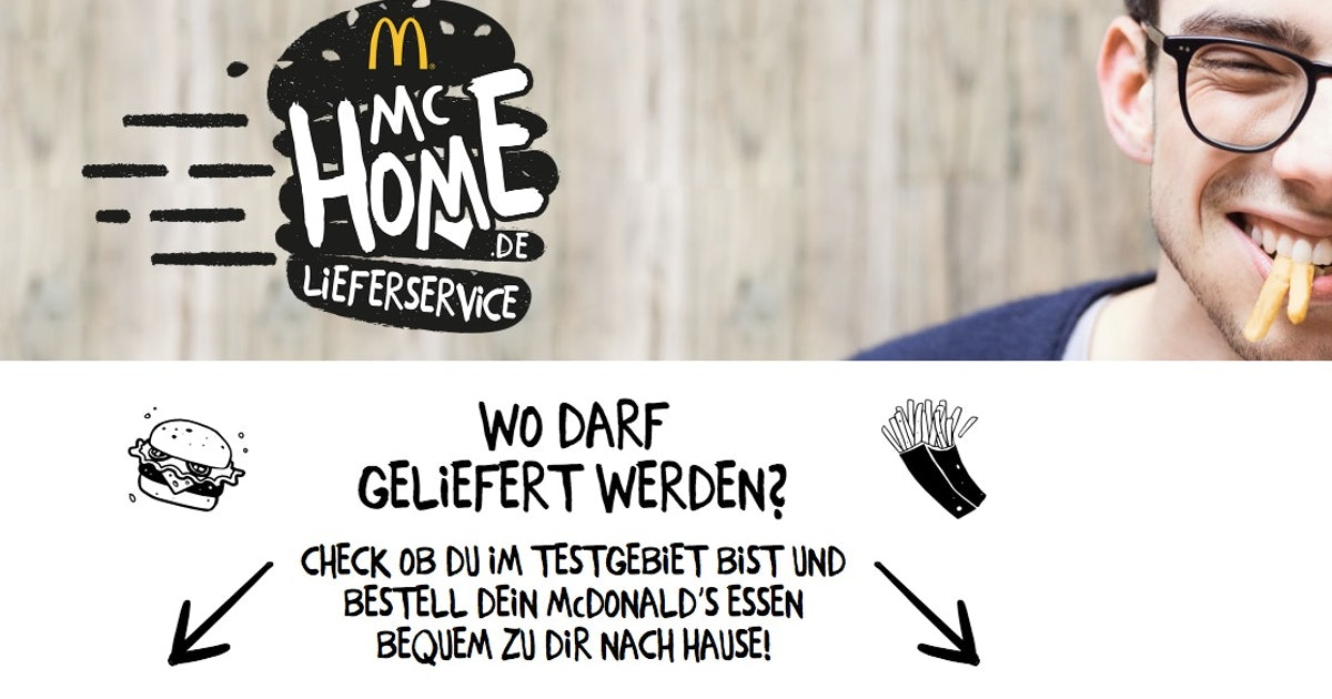 mcdonalds startet erneut eigenen online lieferservice. Black Bedroom Furniture Sets. Home Design Ideas