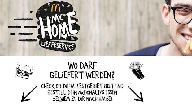McDonalds startet erneut eigenen Online-Lieferservice: McHome.de