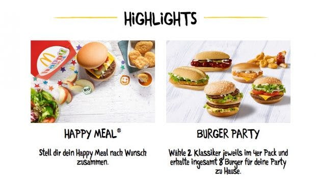 (Screenshot: McDonalds/McHome.de)