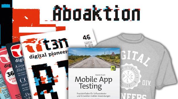 Mobile Apps testen – 30 Bücher gratis zum t3n-Abo