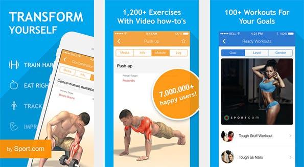 Rund 1.200 unterschiedliche Übungen findet der geneigte Nutzer in dieser Fitness-App. (Bild: iTunes)