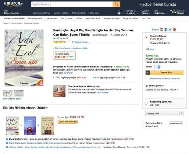 (Screenshot: Amazon.de)