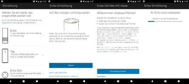 Amazon Echo ist leicht einzurichten. (Bild: t3n)