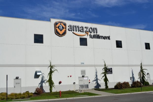 Amazon Logistikzentrum in Dupont nahe Seattle, USA.