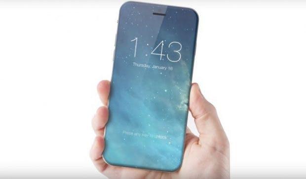 Das iPhone 8 wird sicherlich nicht wie dieses Konzept aussehen, weniger Rahmen als bisher können wir aber erwarten. (Bild: ConceptiPhone)