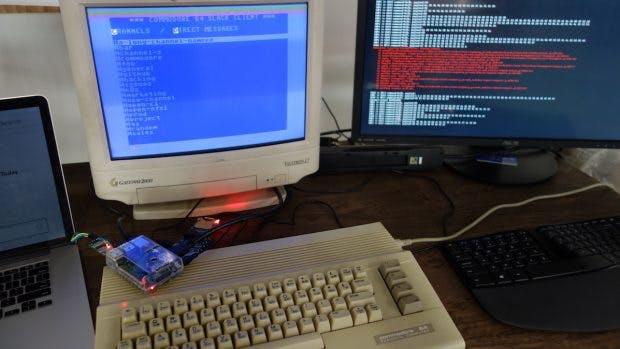 Raspberry-Pi-Projekt bringt Slack auf dem C64(Foto: Jeff Harris)