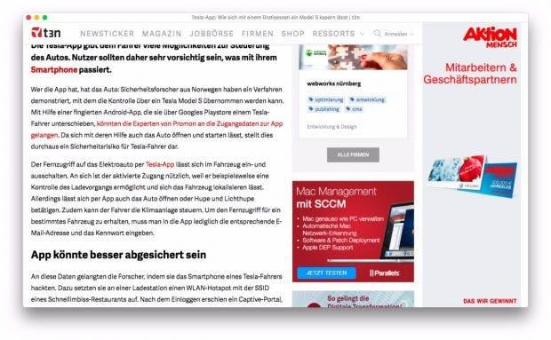 Der Colibri-Browser verzichtet bewusst auf Tabs. Aber ist das sinnvoll? (Screenshot: Colibri)