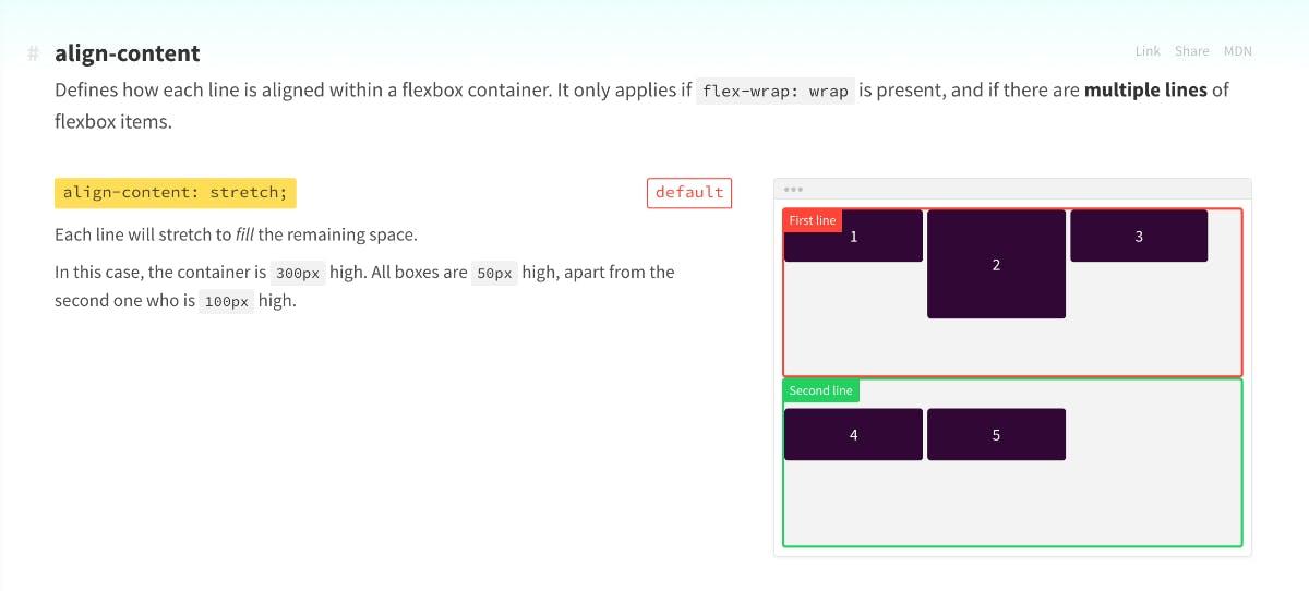 Die wichtigsten CSS-Properties. (Screenshot: cssreference.io)