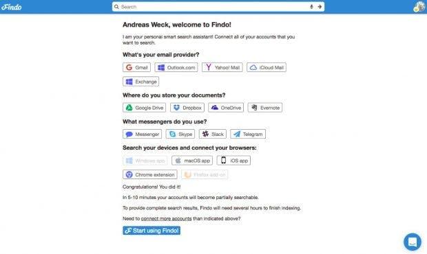 Die Suche quer durch Plattformen und Dienste. (Screenshot: Findo.com)