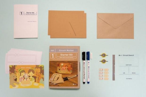 Mit diesem Geschenk lassen sich Schaltpläne dank leitender Tinte direkt auf Papier zeichnen. (Foto: Agic)