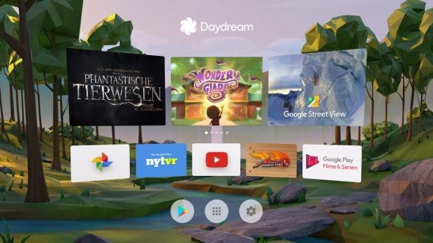 Das Daydream-Menü. (Bild: Google)