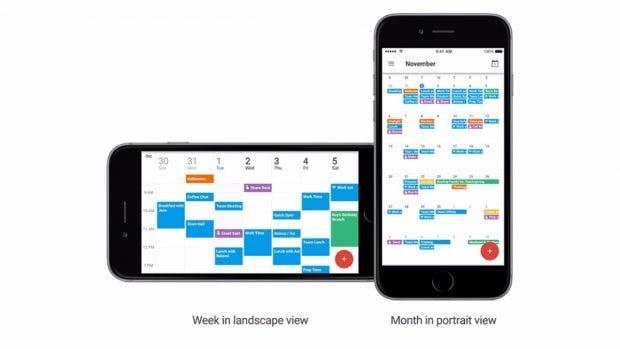 Google Kalender für iOS mit neuen Anzeigeoptionen. (Bild: Google)