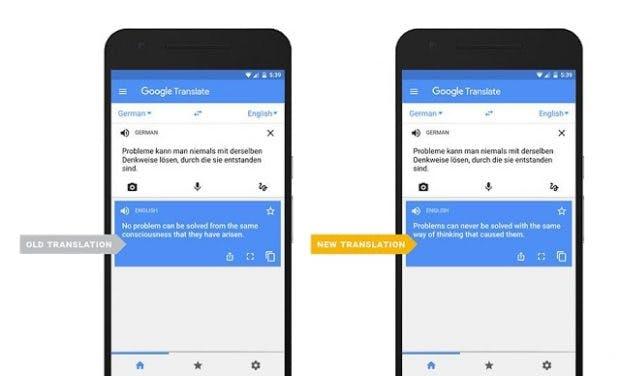 Der Google Übersetzer soll mit dem großen Update qualitativ besser werden. (Bild: Google)