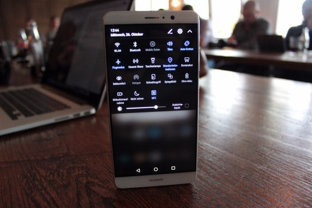 Die Quick-Settings des Huawei Mate 9. (Foto: t3n)