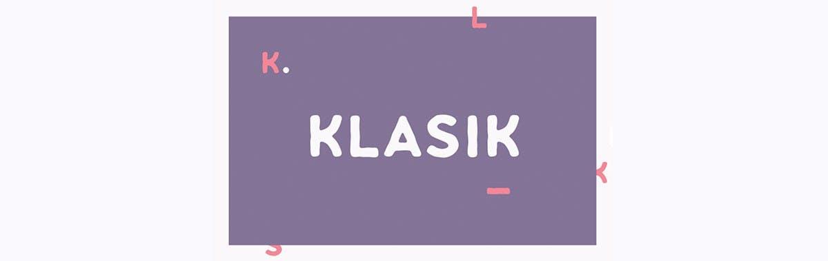 Klasik Sans Free Typefamily. (Screenshot: freedesignresources.net)