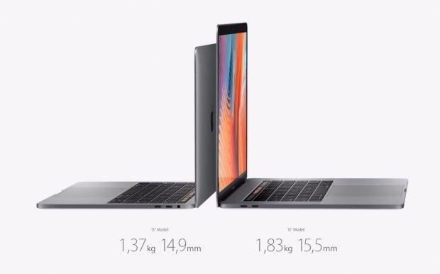 Die neuen Rechner sind in 13 und 15 Zoll verfügbar. (Foto: Apple)