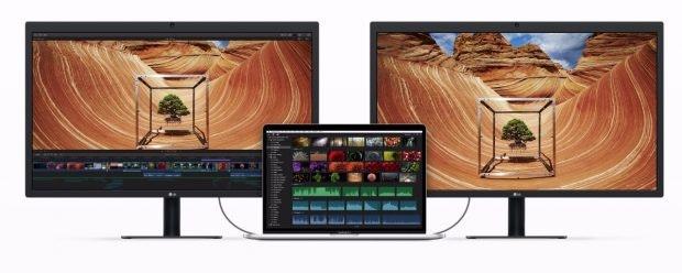 Mit Thunderbolt 3, beziehungsweise USB Typ C, setzt Apple beim MacBook Pro auf die Zukunft. (Foto: Apple)