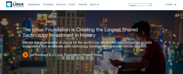 Die Linux Foundation hat ein bekanntes neues Platinum-Mitglied: Microsoft. (Screenshot: Linux Foundation)