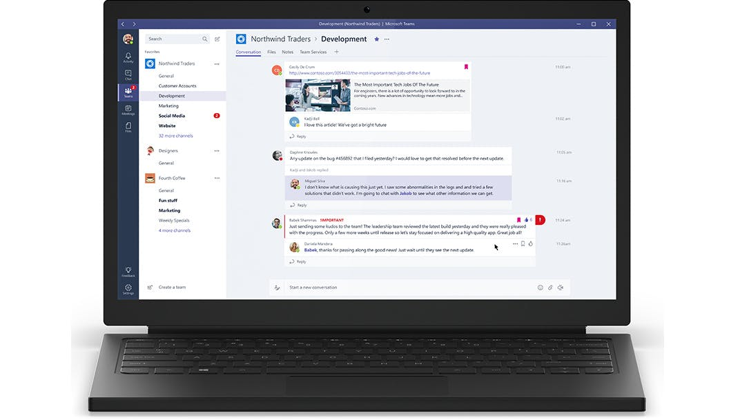 Neues Kollaborations-Tool: Microsoft Teams vorgestellt