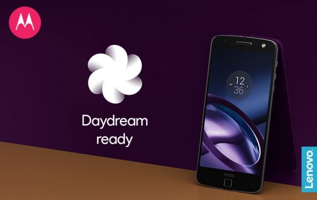 Das Moto Z unterstützt nach dem Update auf Android 7.0 Googles Daydeam-VR-Plattform. (Bild: Lenovo)