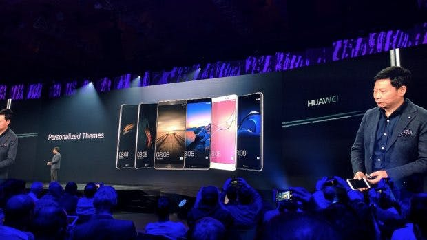"Huawei-Device-Chef Richard Yu, der ""Hardware-Mann"" in seinem Element. (Foto: t3n)"