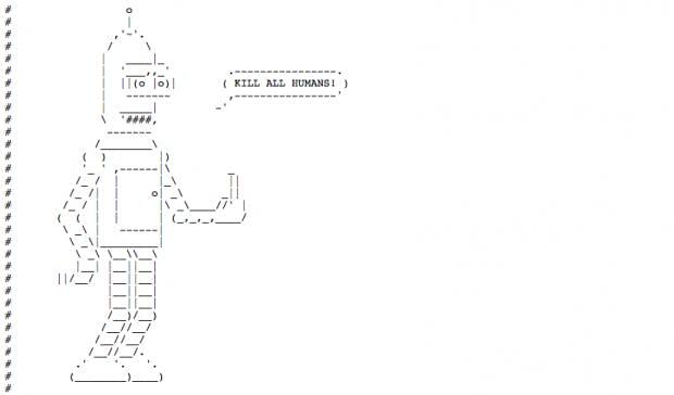 Bender ist ein beliebtes Motiv bei robots.txt-Erstellern. (Screenshot: robotstxt.org.ru/robots.txt)