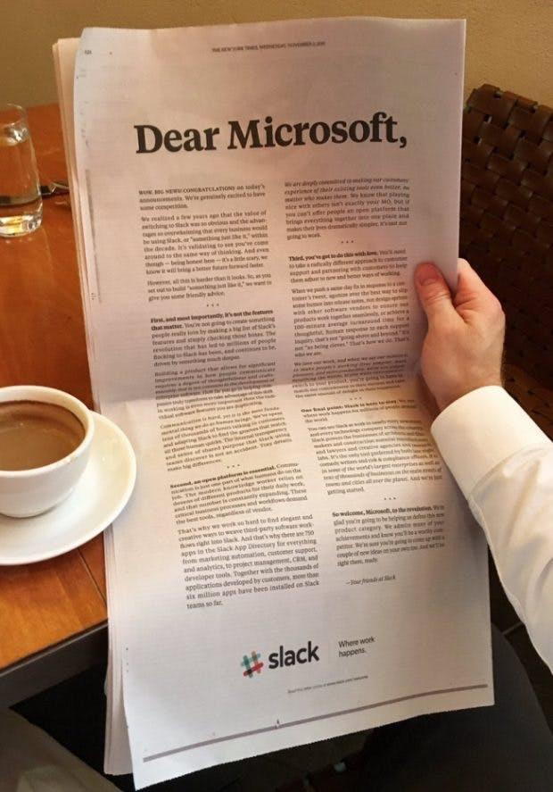 """Slack ist aufgeregt """"etwas Konkurrenz zu haben."""" (Foto: Steward Butterfield / Twitter)"""