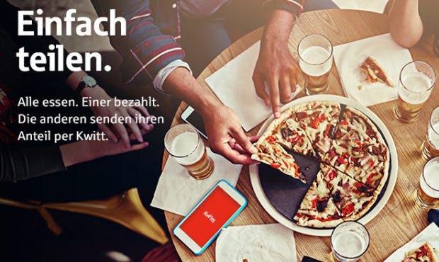 Sparkasse: Kwitt soll den Geldtransfer im Bekanntenkreis vereinfachen. (Grafik: Sparkasse)