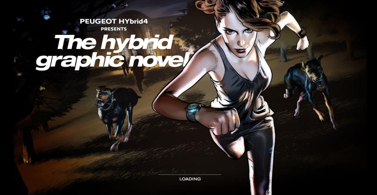 (Screenshot: graphicnovel-hybrid4.peugeot.com)
