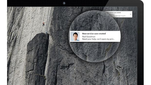 Neue Funktion in Teamviewer 12: Kunden können IT-Mitarbeiter proaktiv kontaktieren. (Bild Teamviewer)
