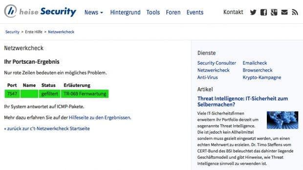 Mit dem Check von Heise könnt ihr prüfen, ob euer Router auch gefährdet ist. (Screenshot: Heise)