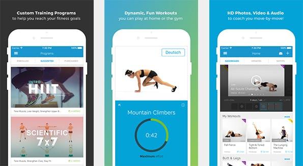 Egal ob Gewichtsverlust, Muskelaufbau oder Verbesserung der Kondition: der Workout Trainer deckt alle Bereiche ab. (Bild: iTunes)