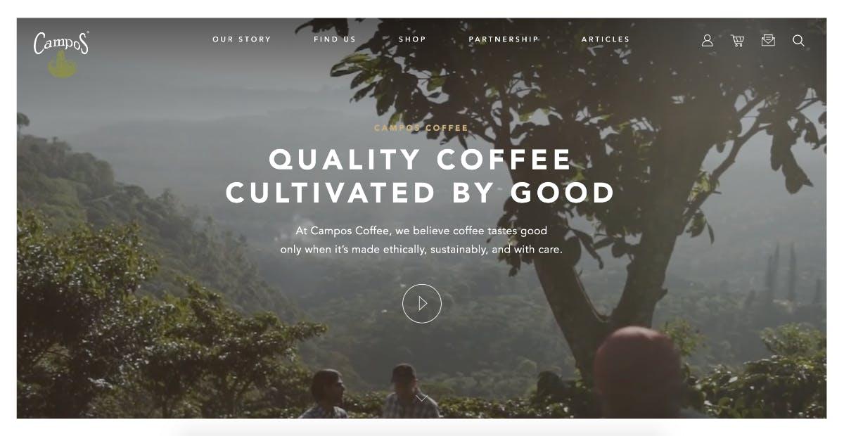 (Screenshot: camposcoffee.com)
