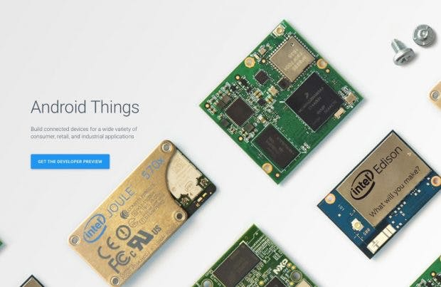 Android Things: Neues IoT-Betriebssystem auf Android-Basis von Google. (Bild: Google)
