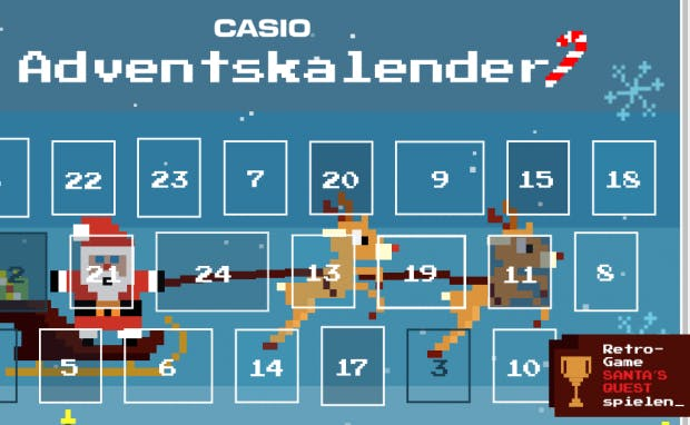 Casio Adventskalender Gewinnspiel