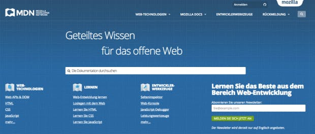 (Screenshot: developer.mozilla.org)