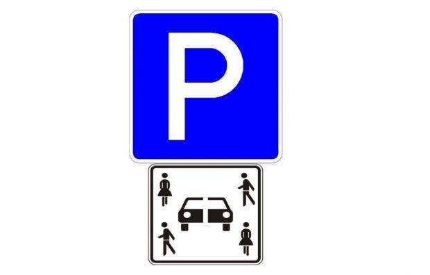 Carsharing-Parkschild des Bundesministeriums für Verkehr und digitale Infrastruktur. (Bild: BMVI)