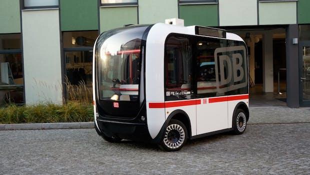 Selbstfahrender Bus. (Bild: Deutsche Bahn)