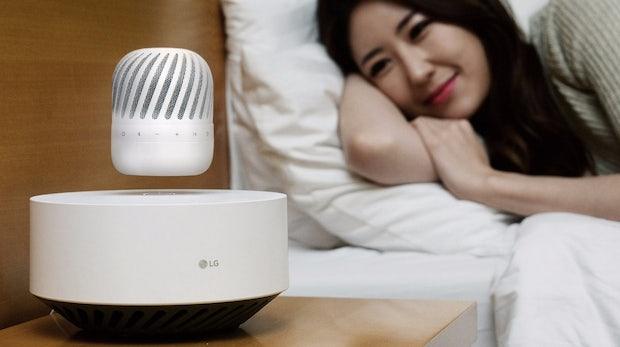 Ungewöhnliches Design: LG stellt schwebenden Lautsprecher vor